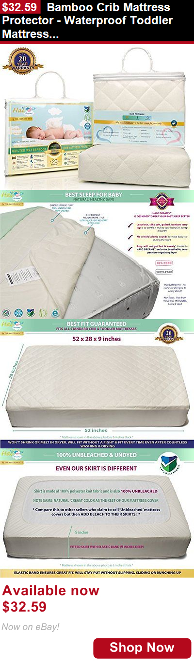 Mattress Pads And Covers Bamboo Crib Protector Waterproof Toddler Pad It