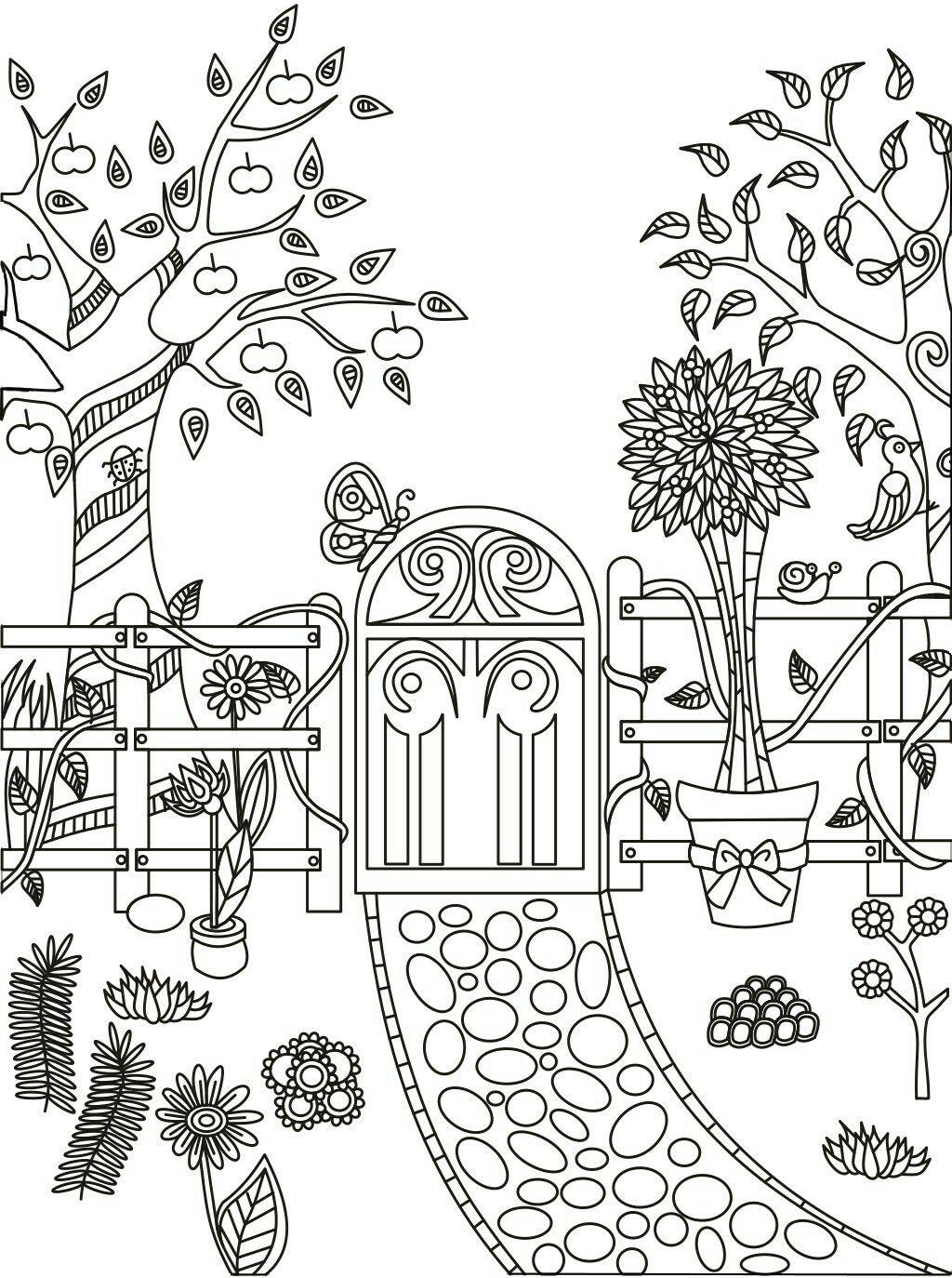 Garden Path Coloring Page