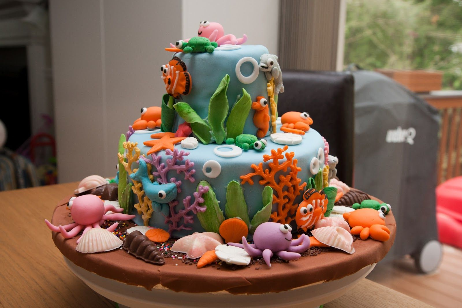 Beautiful Sea Life Cake