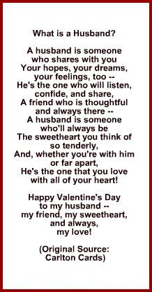 Valentine Card Poems For Boyfriend  Valentine Gift