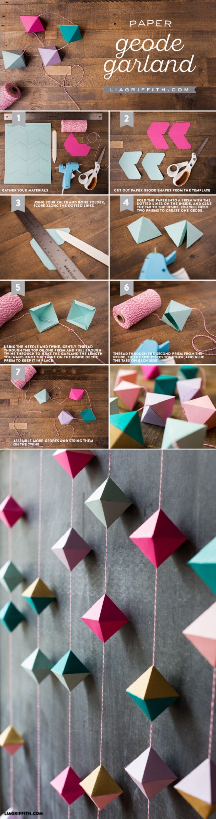 Diy Paper Geode Garland What's an article about paper