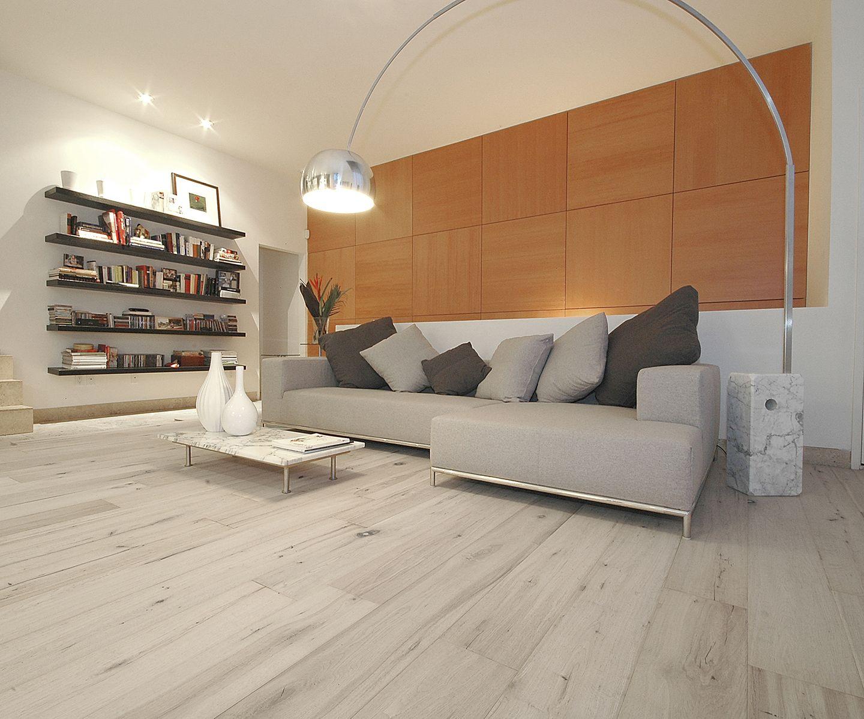 White Oiled Oak Hardwood Flooring, Oil Floor, Chateau