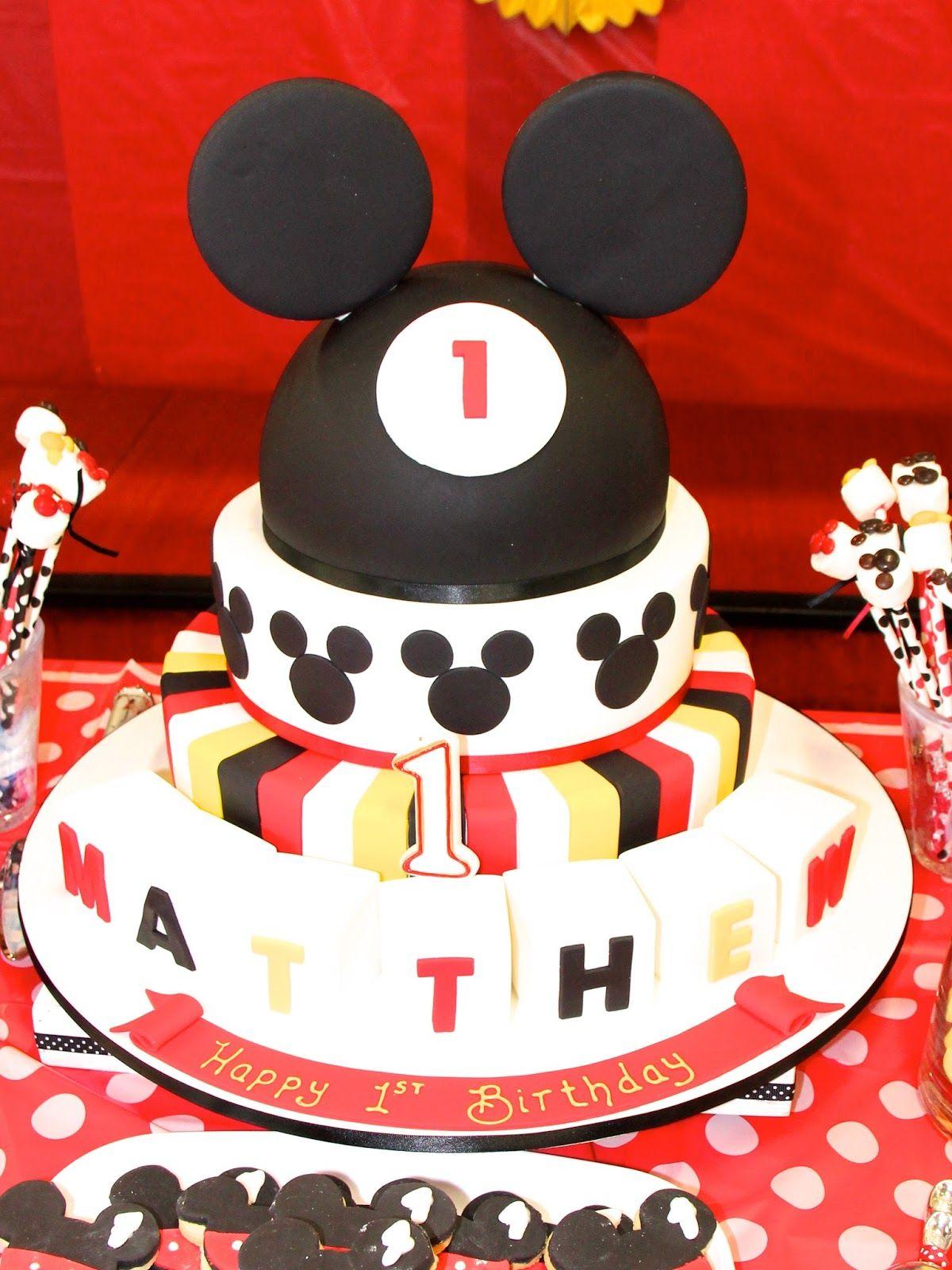 mickey Themed Birthday Cakes Kids Party Ideas Mickey