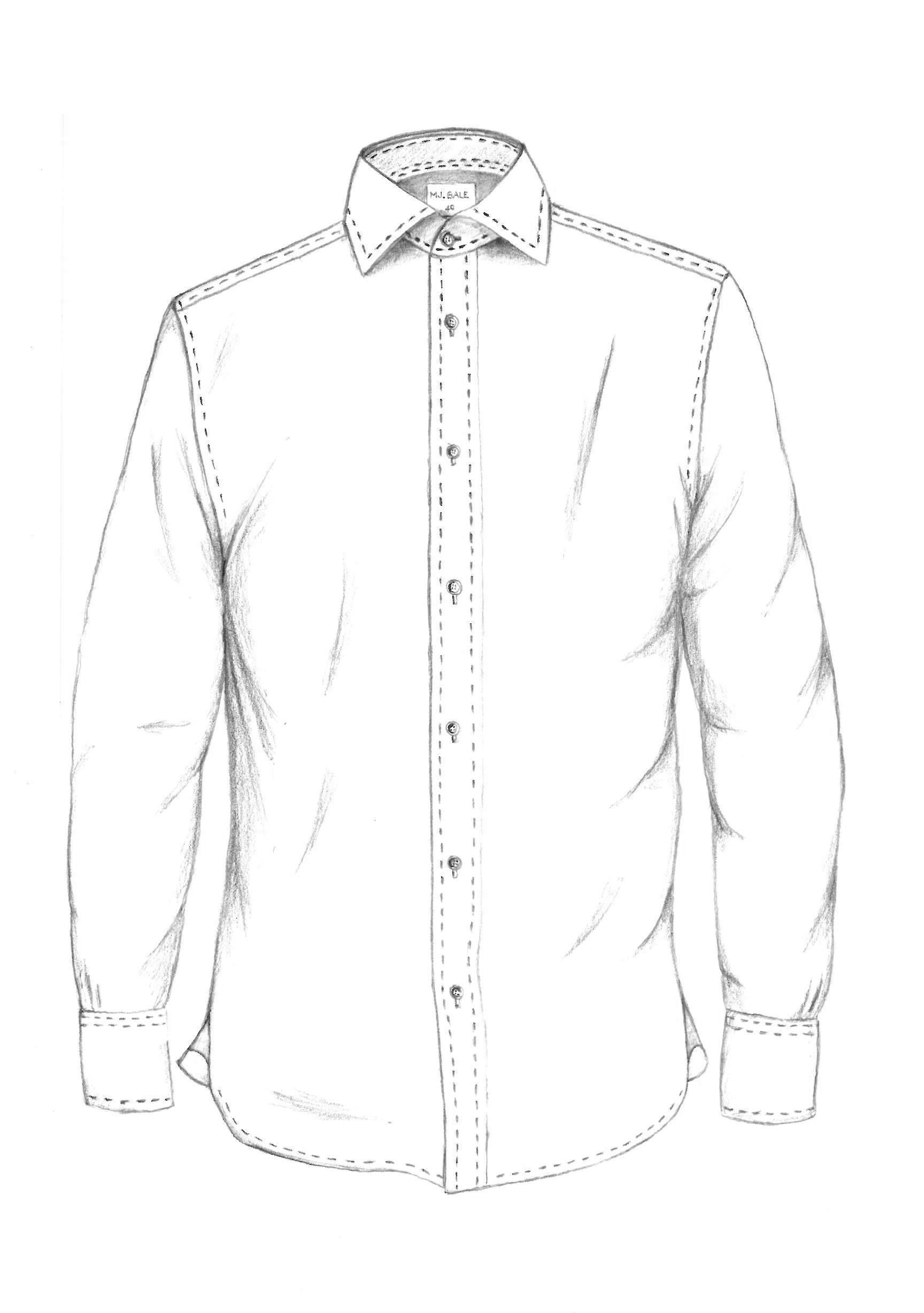 Button Up Collared Shirt Mj Bale Garment Sketches