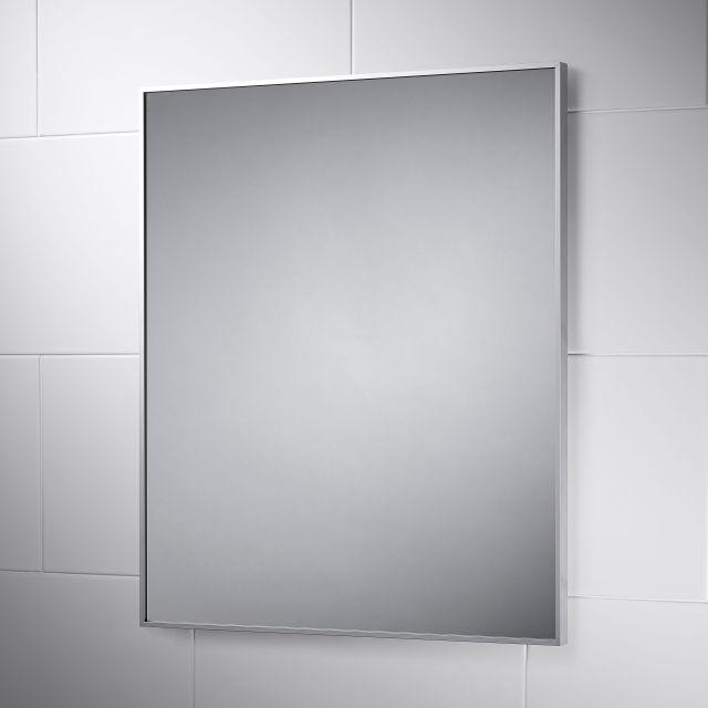 Wall Mounted Metz 45cm x 45cm Square Stainless Bathroom Mirror