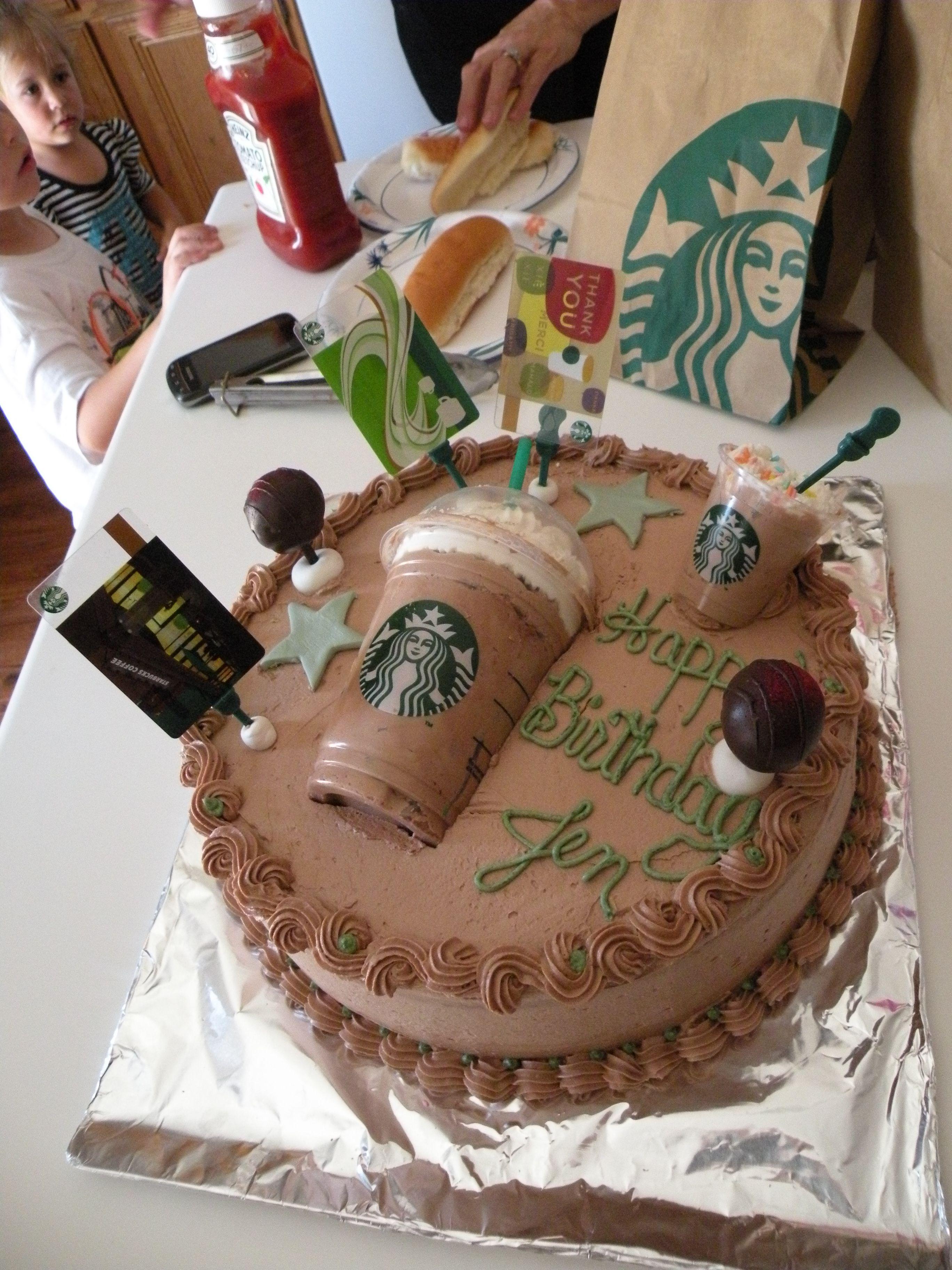 Starbucks cake made by Labella J.labella cakes