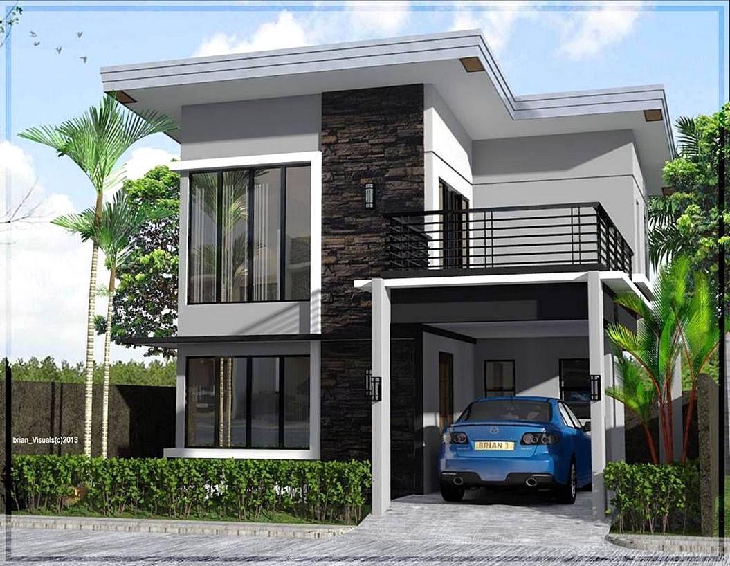 Teras Depan Rumah 2 Lantai Minimalis Sederhana Desain Rumah Minimalis