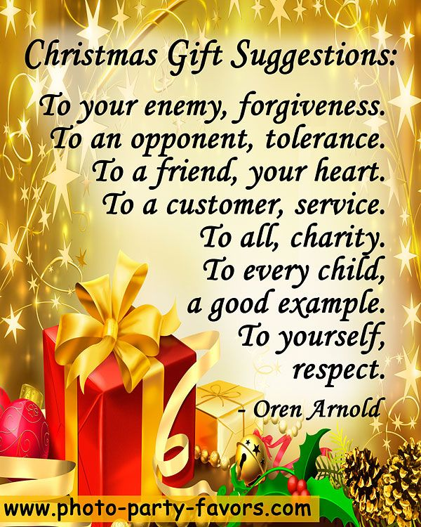 """""""Christmas Gift Suggestions To your enemy,"""