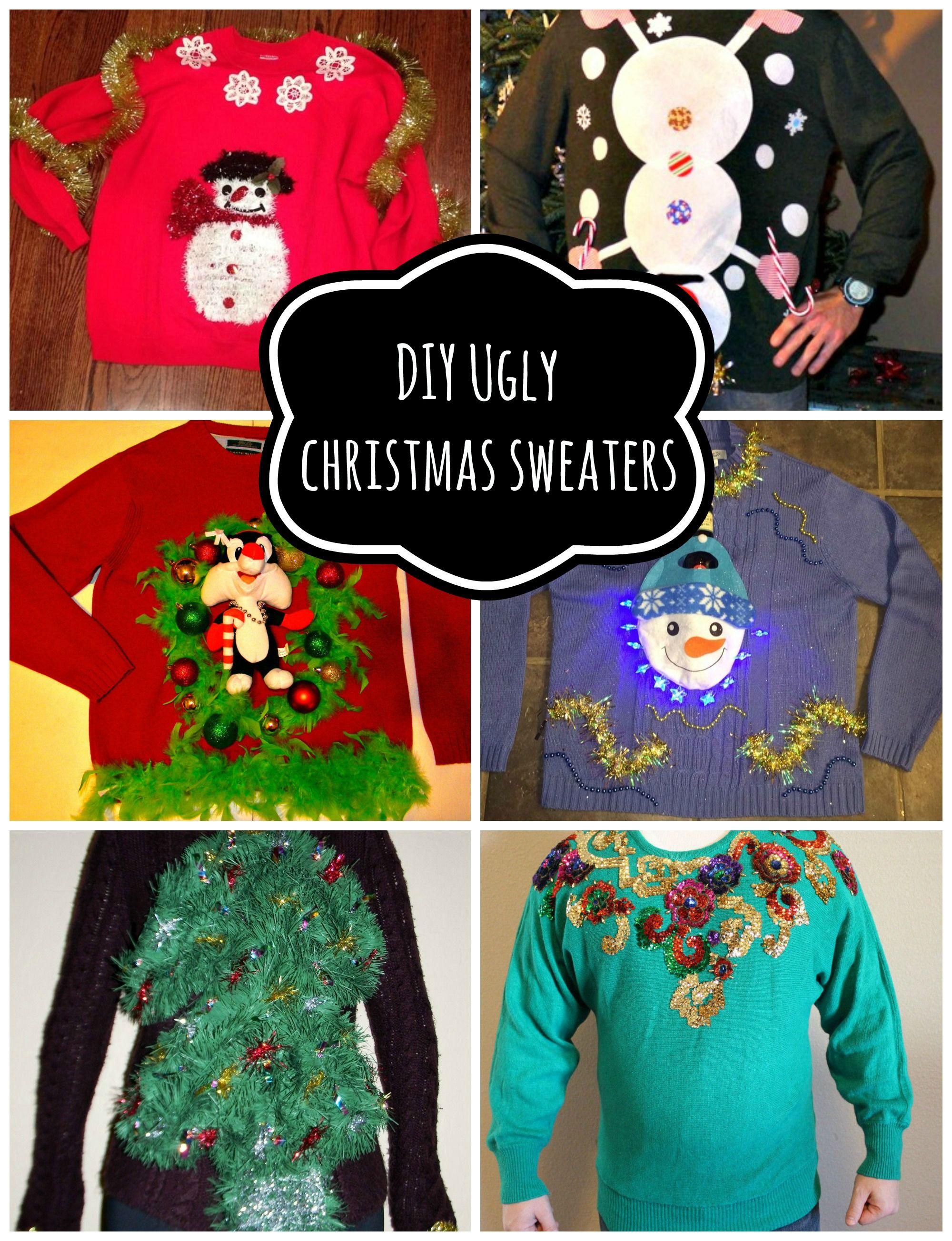 DIY Handmade Ugly Christmas Sweater Ideas Last minute