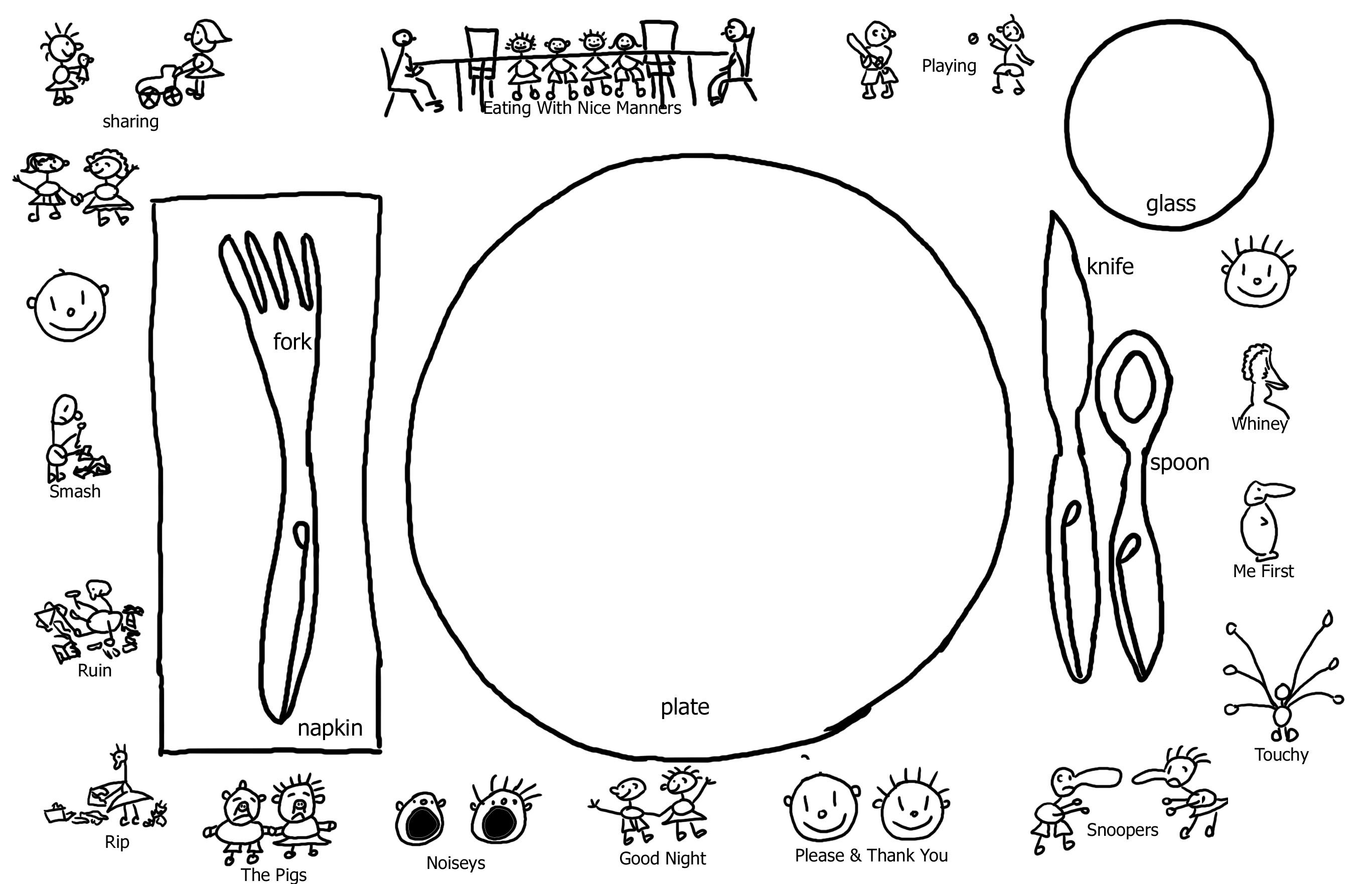 Manners Placemat From Storytime Crafts