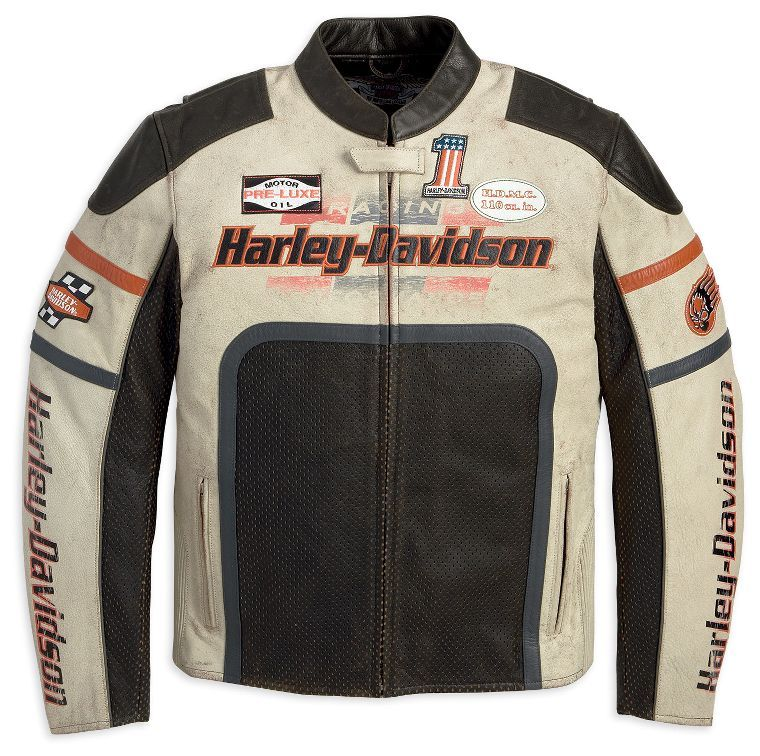 Harley Davidson Mens Half Mile Leather Jacket My Style
