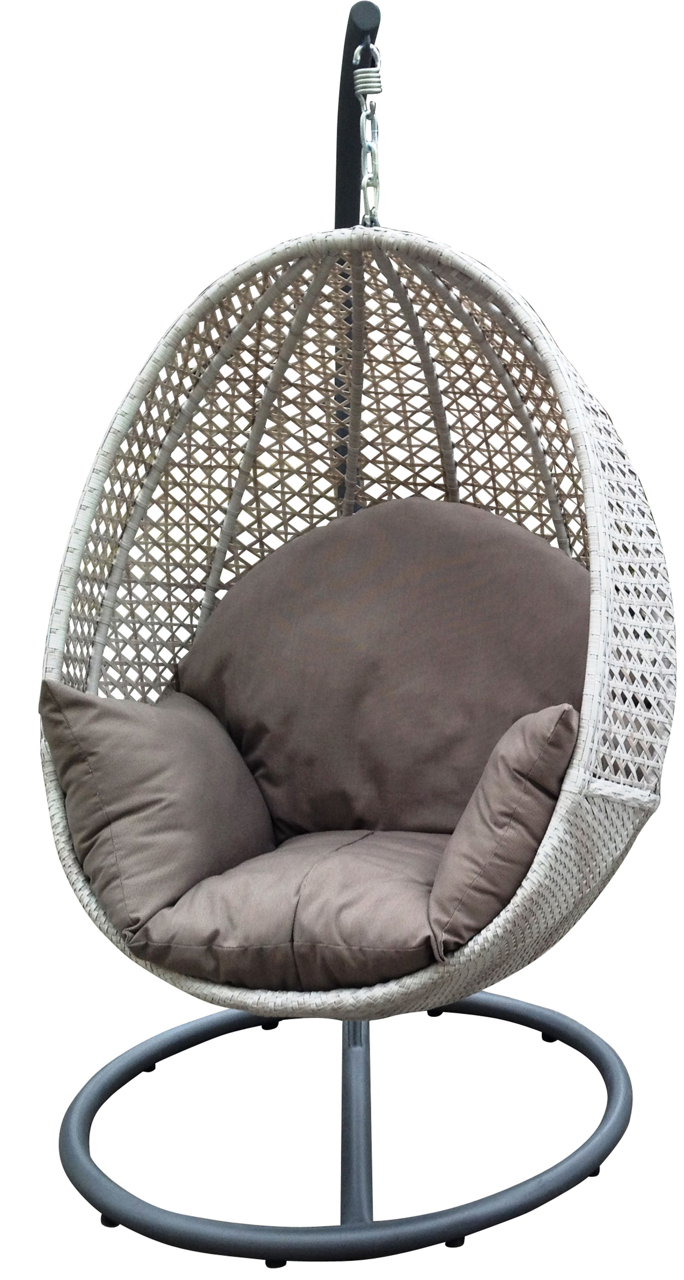 Outdoor hanging egg chair. Available at Drovers Inside