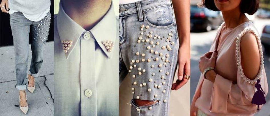 Resultado de imagen para famosas con perlas en ropa