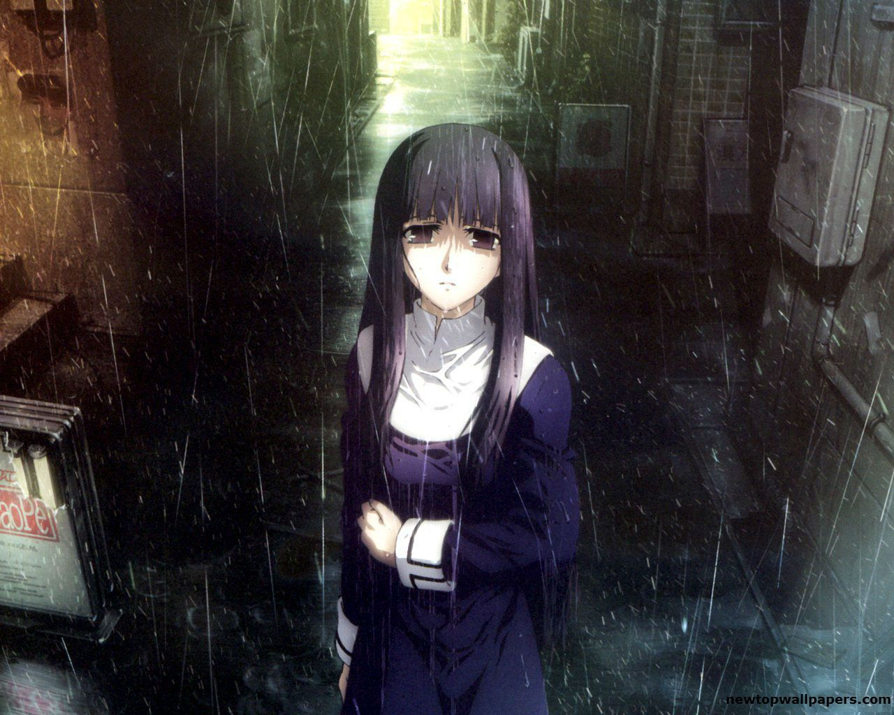 Anime Girl Sadness In Rain HD Wallpaper anime