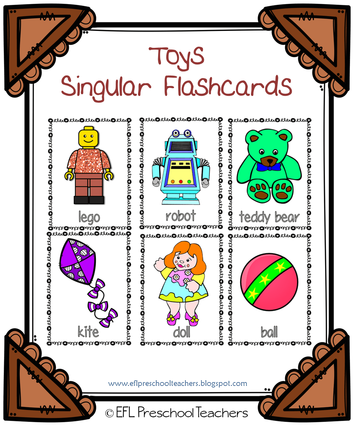 Esl Efl Preschool Teachers Toys Worksheets