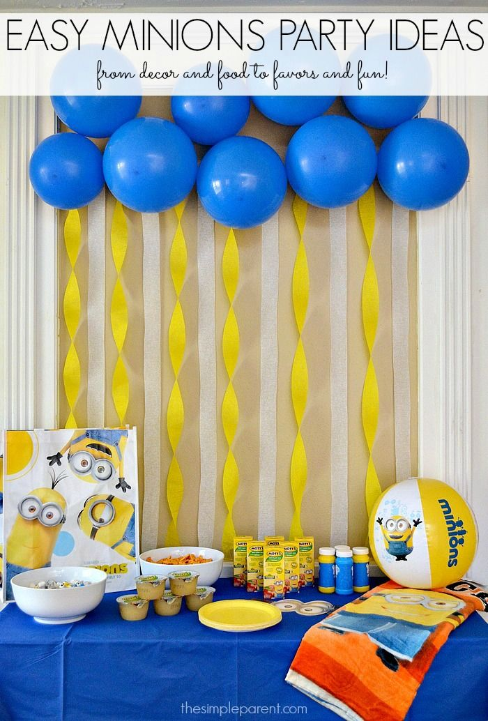 Throw A Crazy Minions Or Despicable Me Party With These
