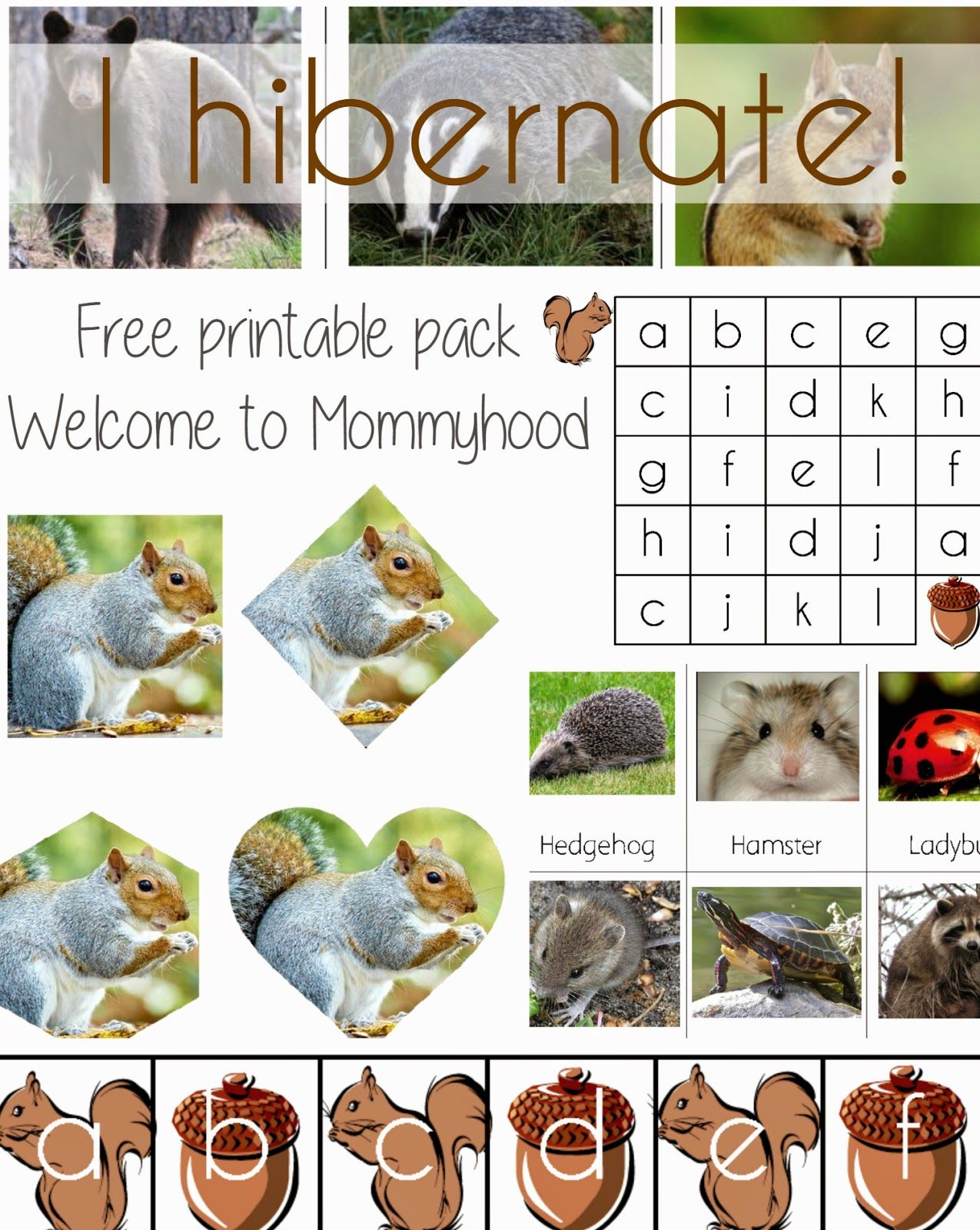 I Hibernate Free Printable Pack From Welcome To Mommyhood