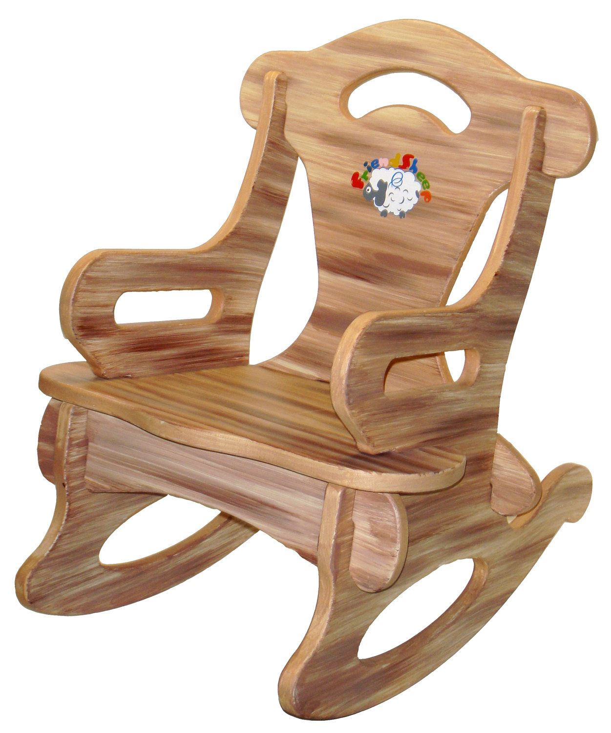 Brown Puzzle Rocker Rocking Chair Solid Wood for by
