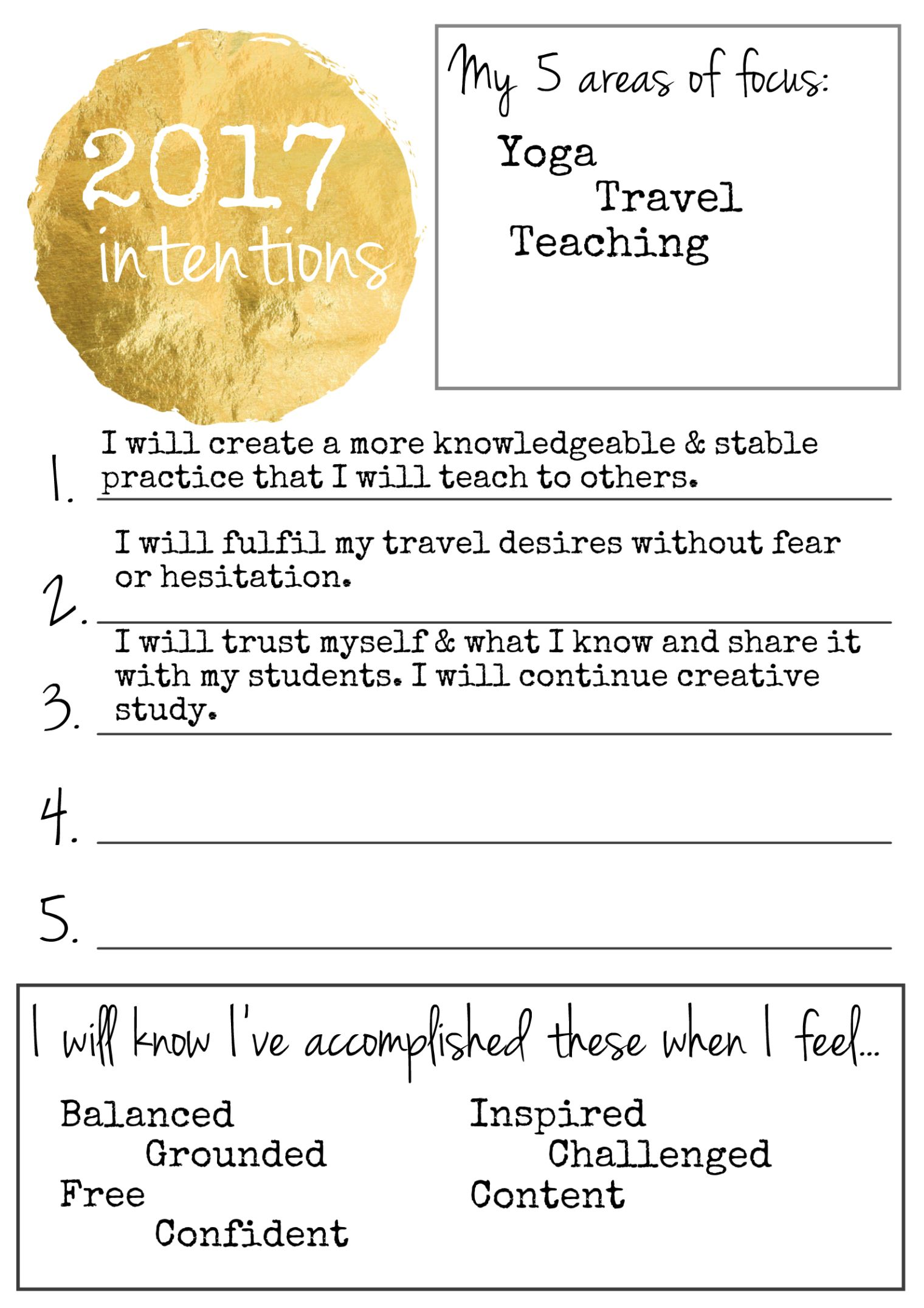 New Year Same You Different Intentions Free Printable