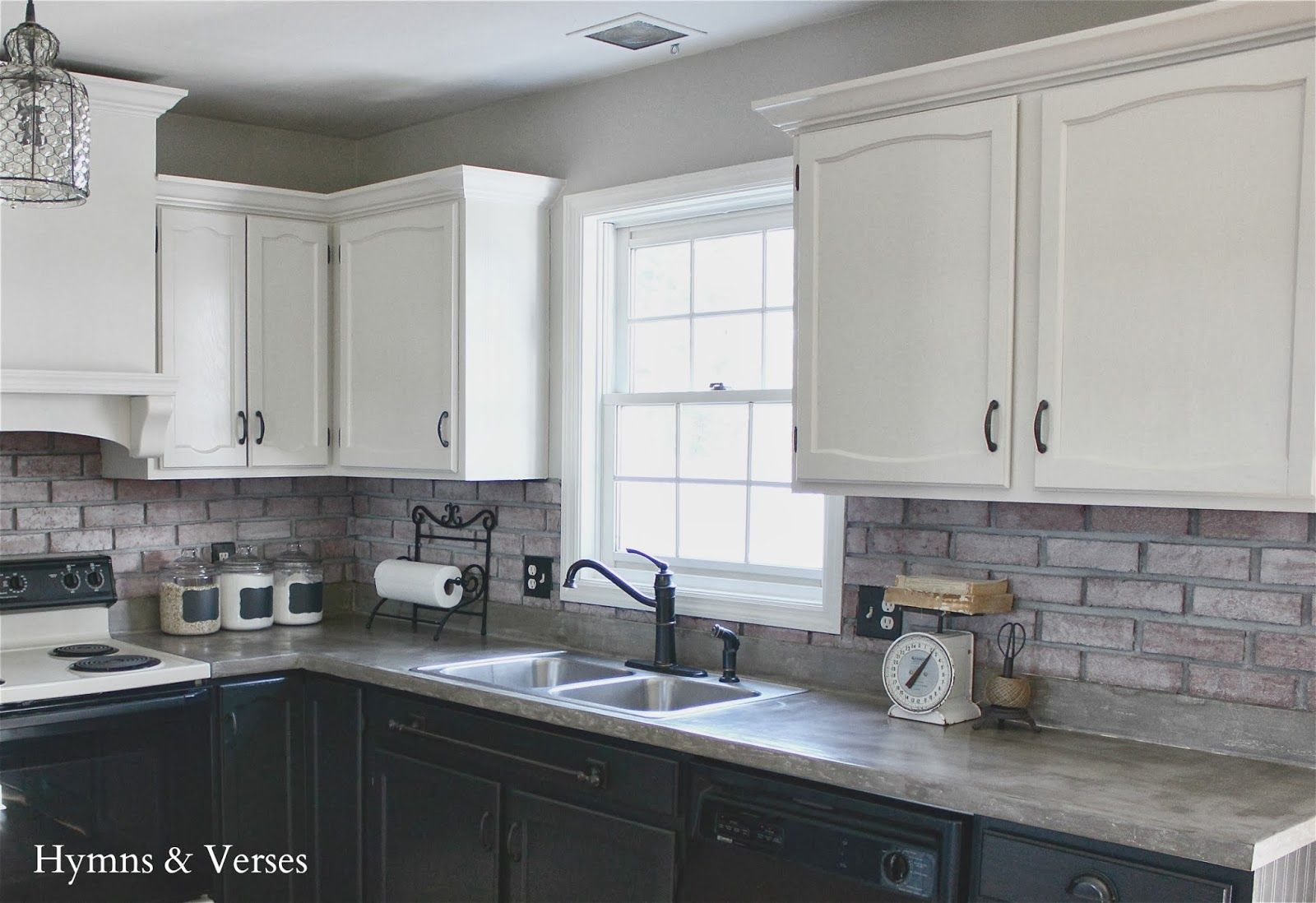 White washed painted BRICK! Painted wood and
