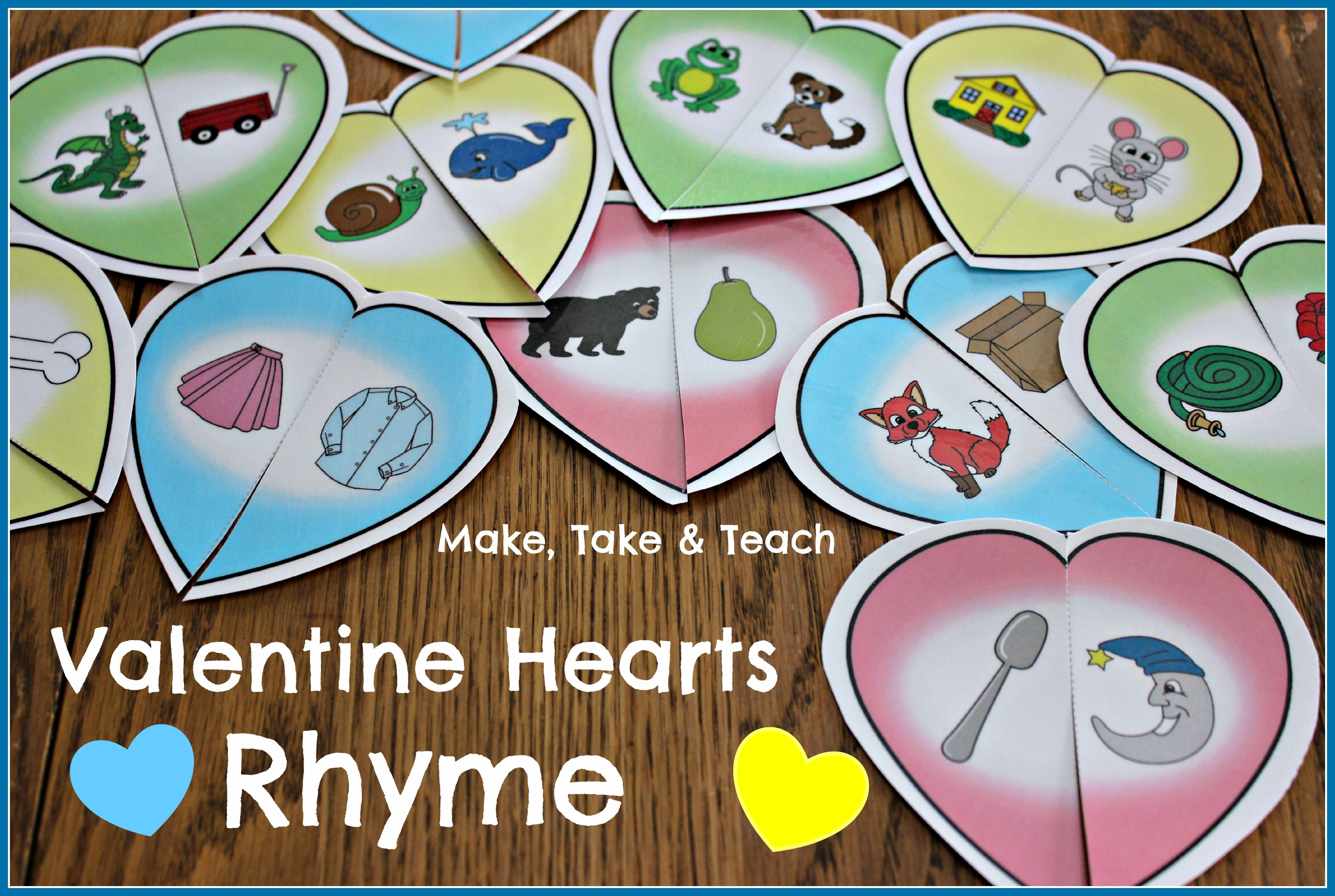 Valentine Rhyming Activity Make Take Amp Teach