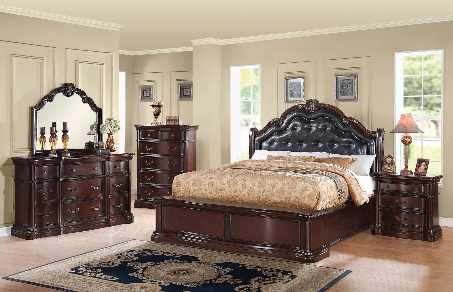Acme Veradisia Storage Bedroom Set With Button Tufted