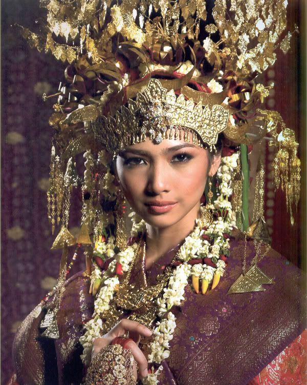 Traditional clothes Sumatra Indonesia. Indonesia