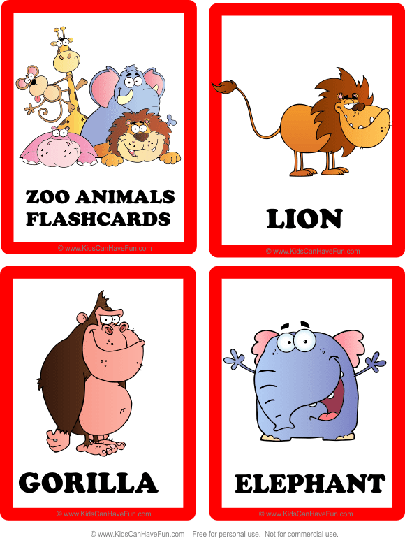 Flashcards, Zoo Animals, Farm Animals, Pets, Birds