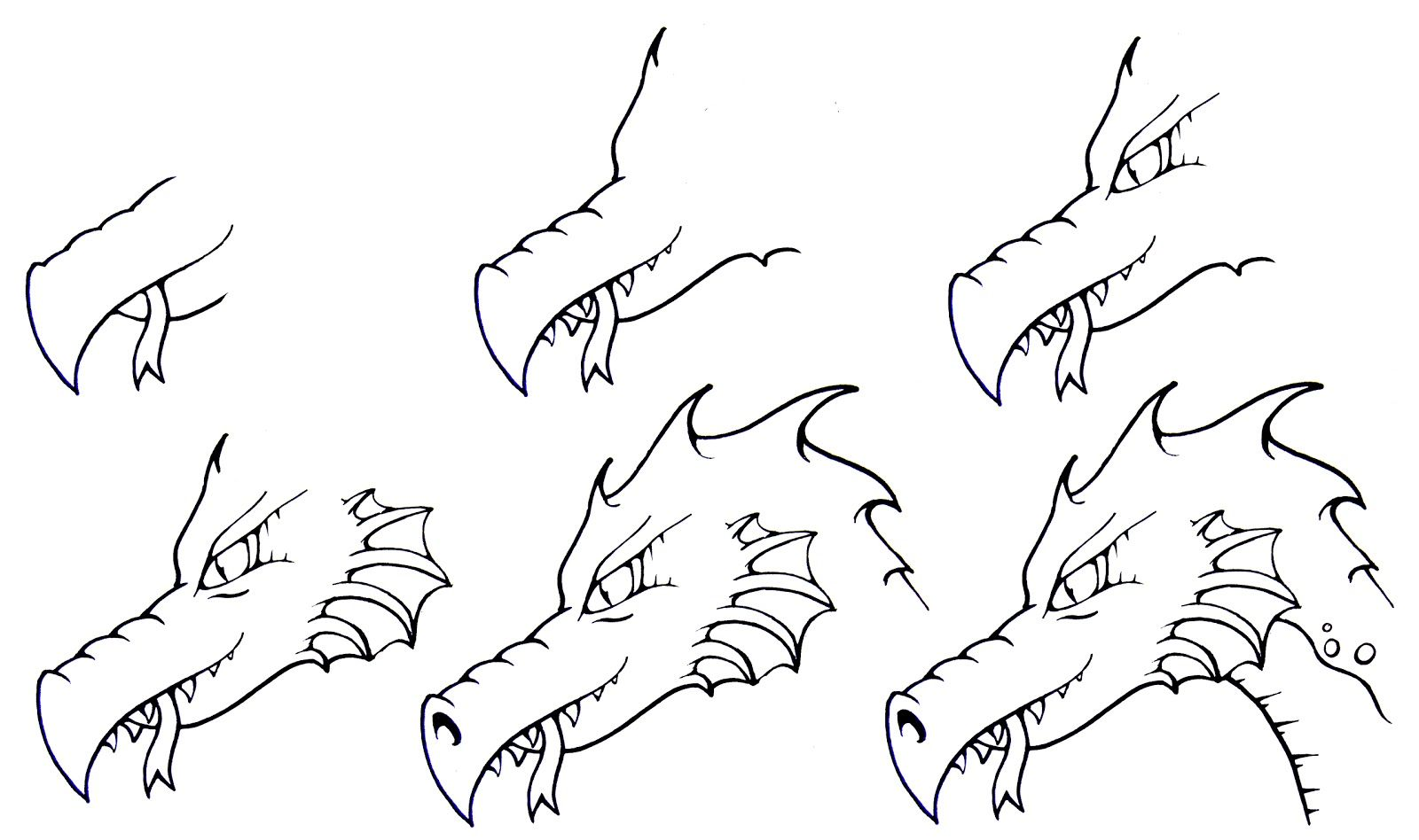 easy step by step drawings Daryl Hobson Artwork How To