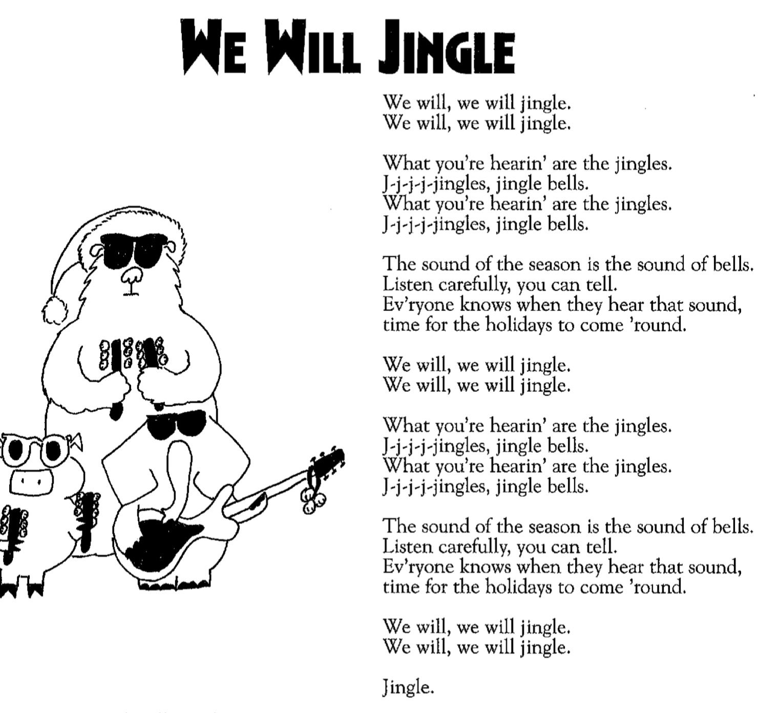 We Will Jingle Lyrics