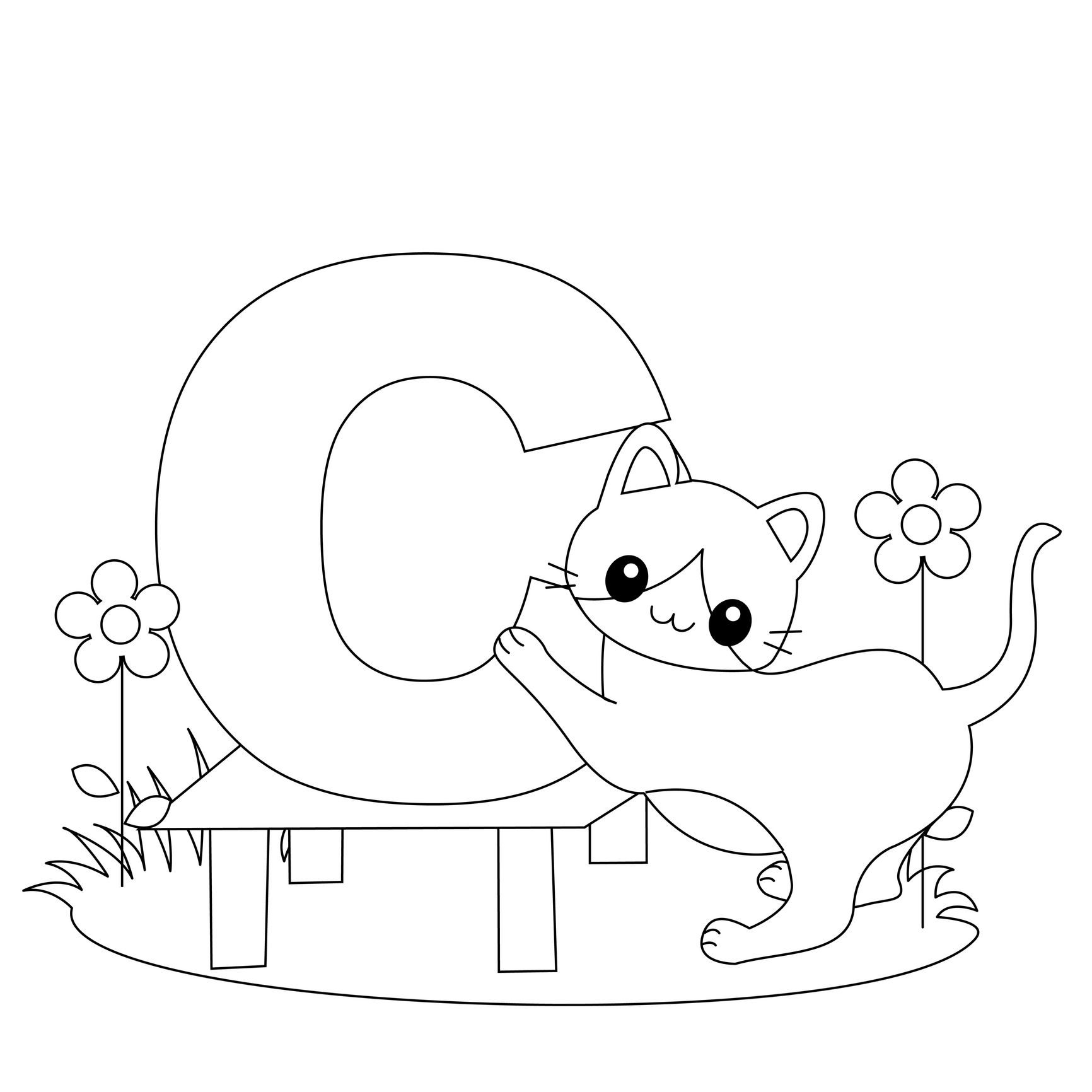 Animal Alphabet Letter C Is For Cat Here S A Simple
