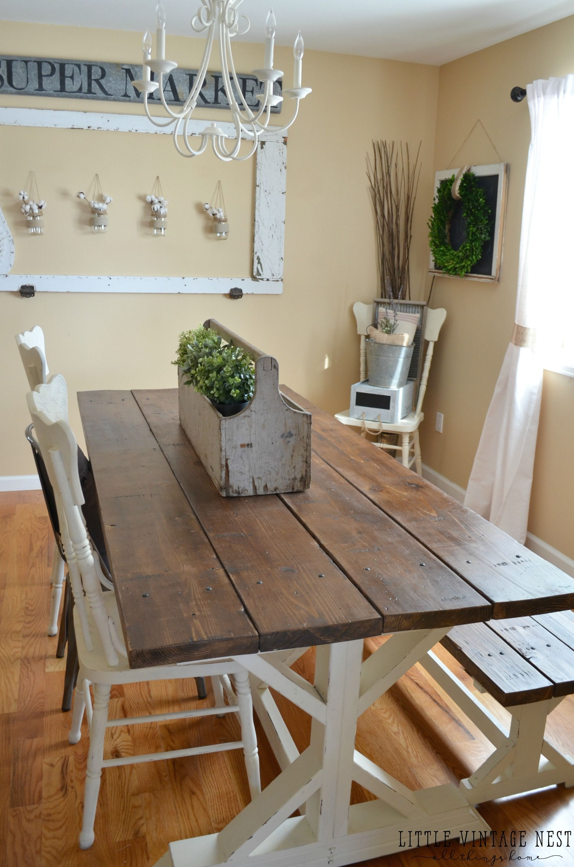 Modern Farmhouse Dining Room Makeover Farmhouse style