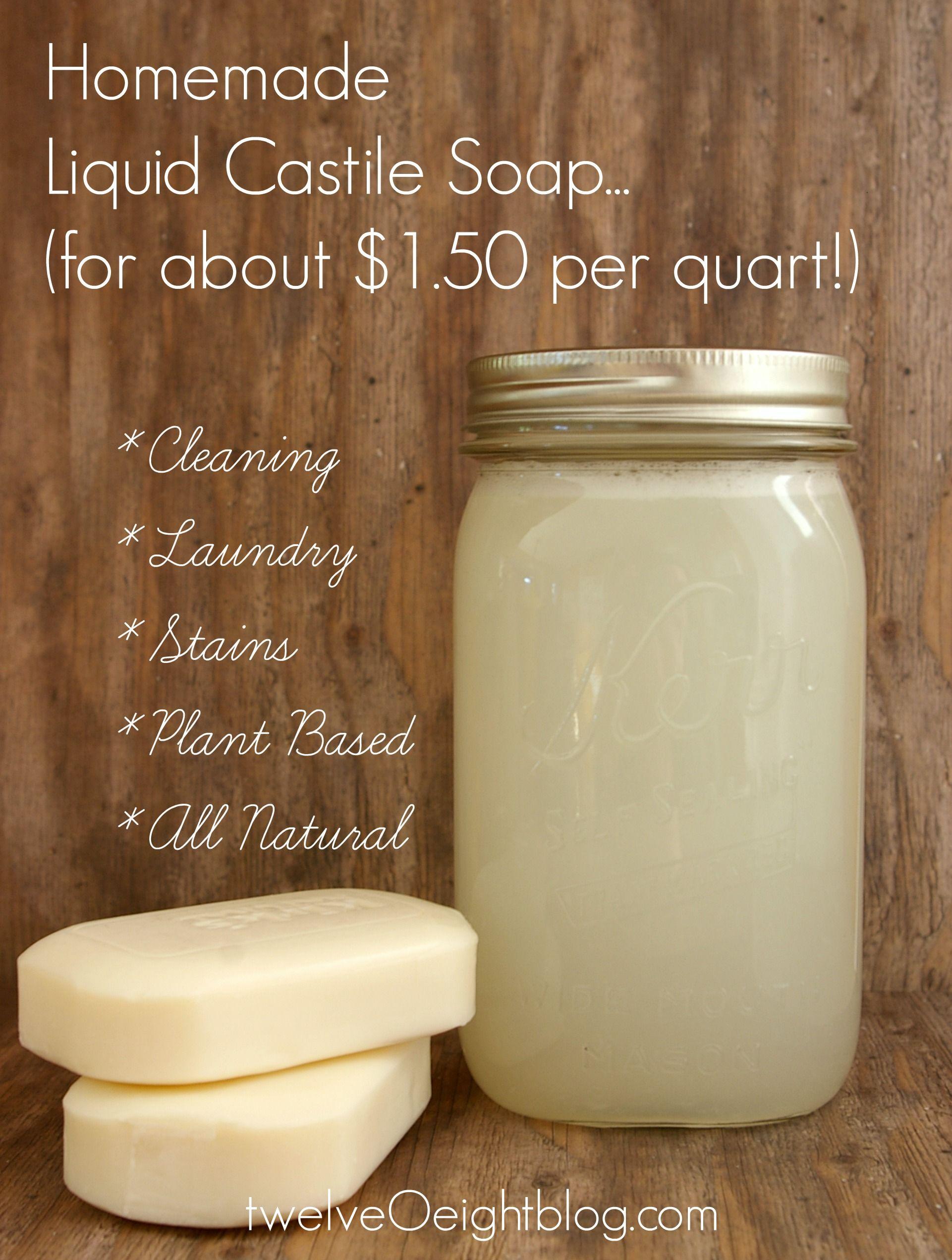 Liquid Castile Soap Recipe Clean Up