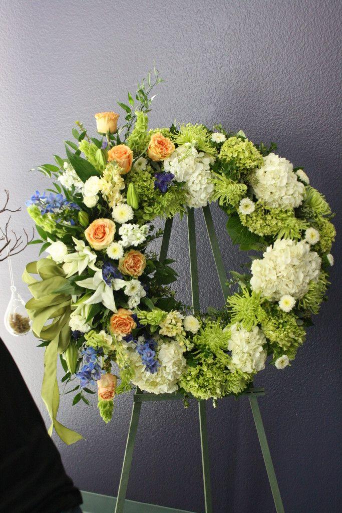 unique sympathy flower arrangements funeral wreath like