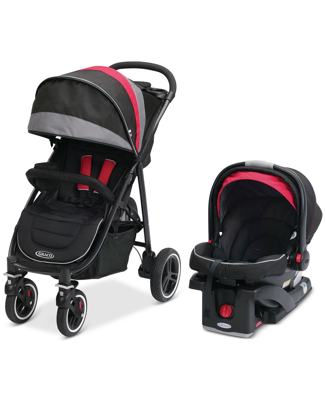 Graco Baby Aire4 XT Stroller & SnugRide Click Connect 35