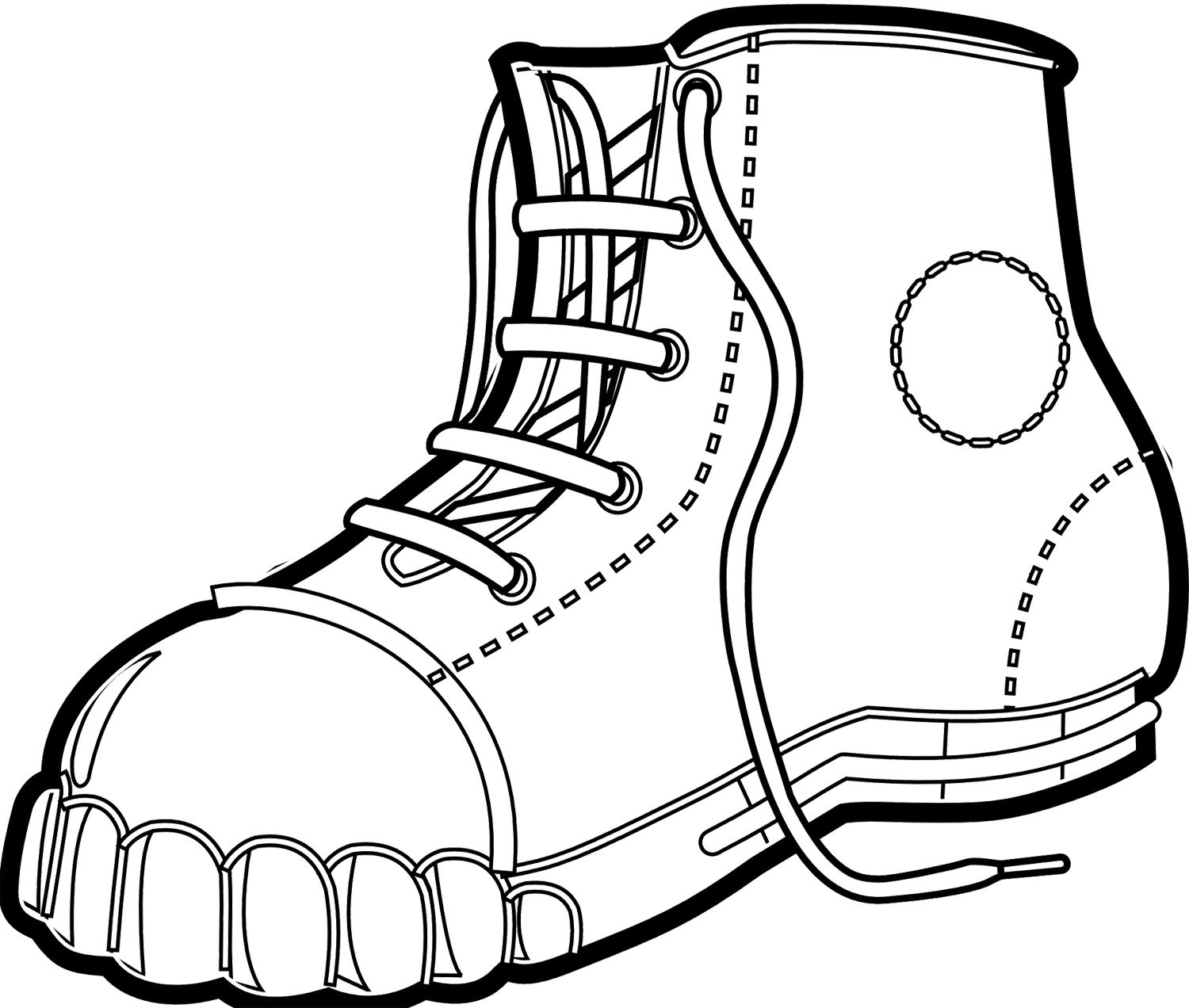 Winter Boots Men Coloring Page