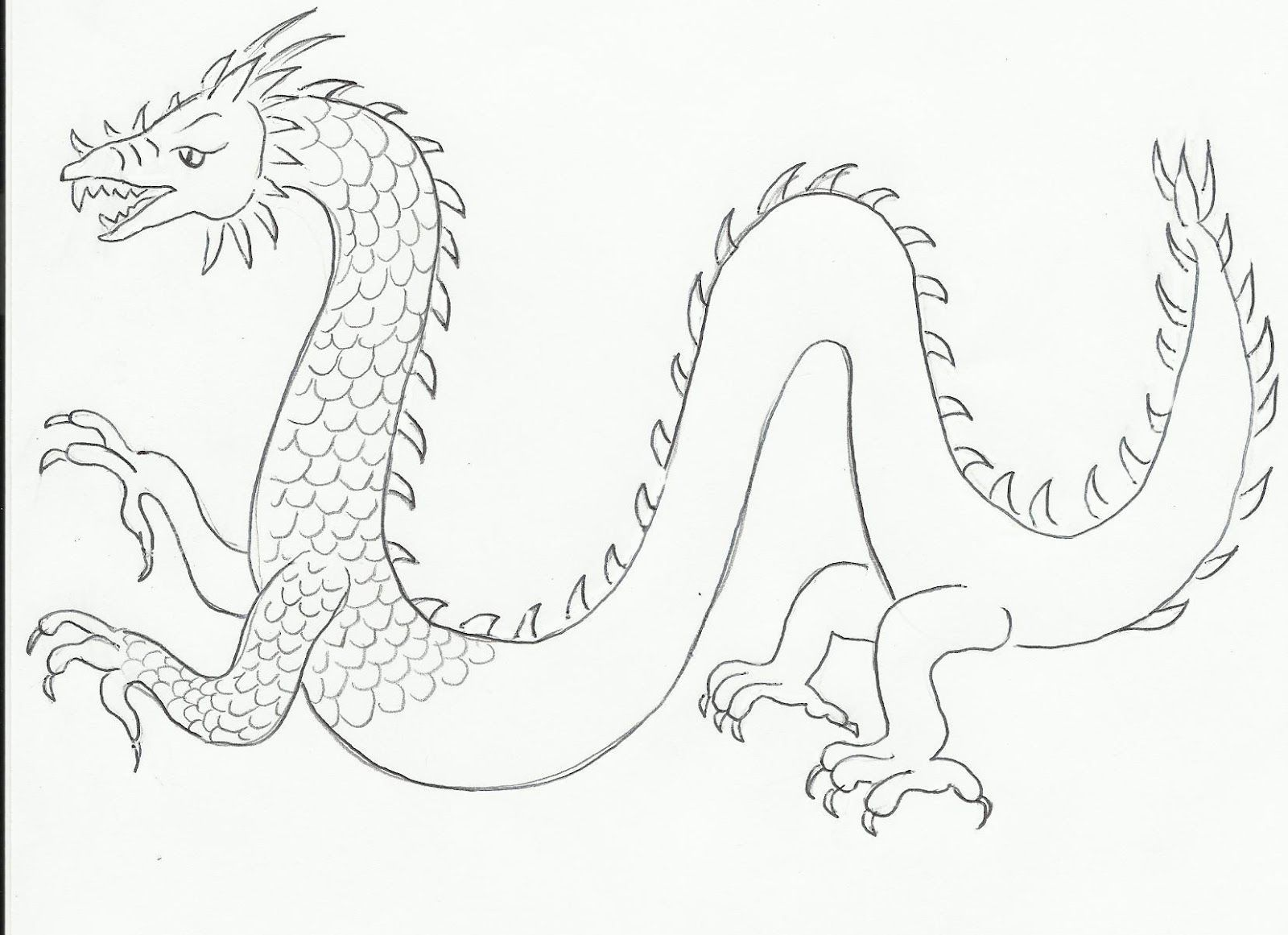 Art Class Ideas Draw A Dragon