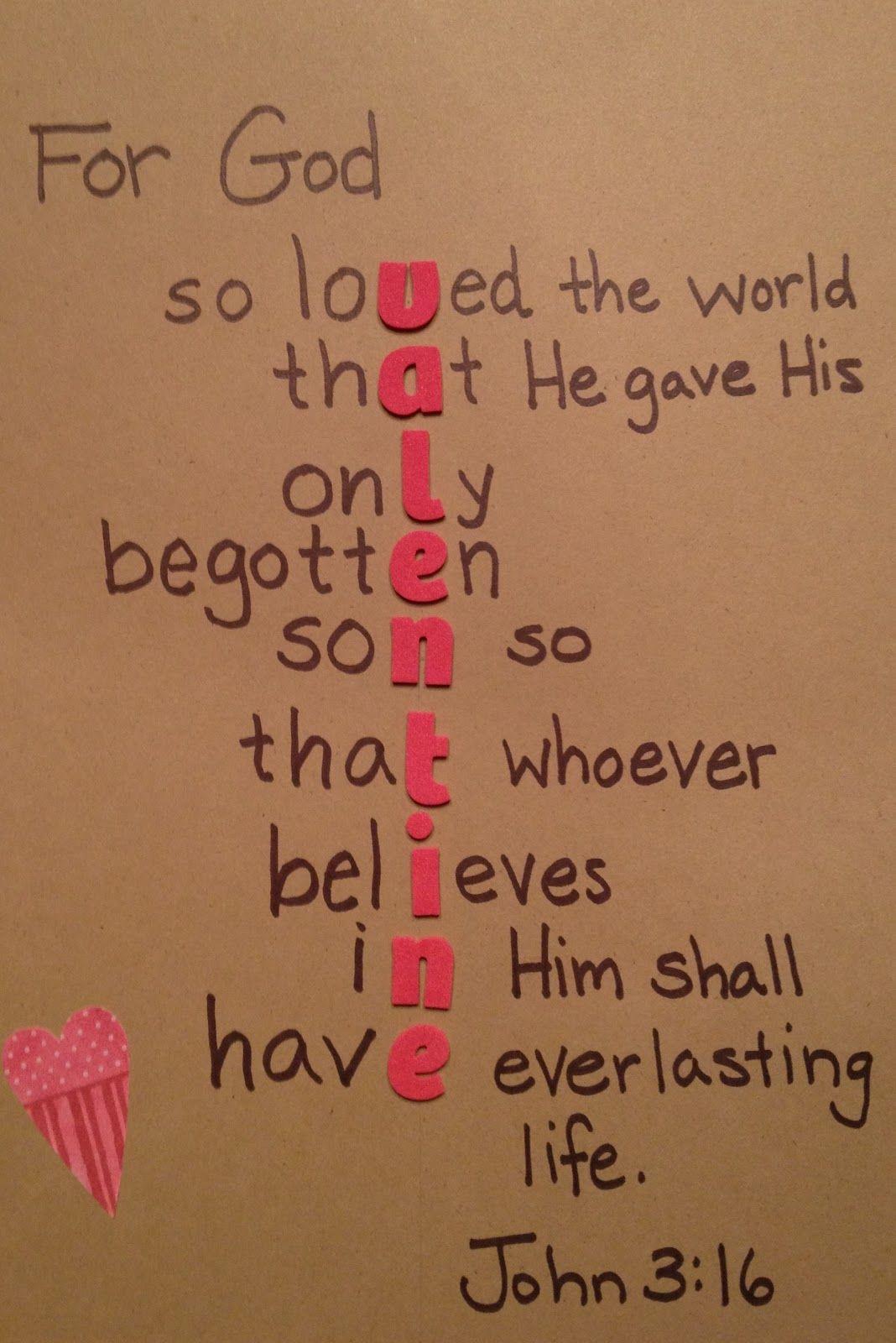 For God So Loved The World Valentine Craft