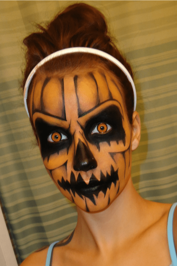 Rotten Pumpkin Halloween makeup tutorial Wow awesome