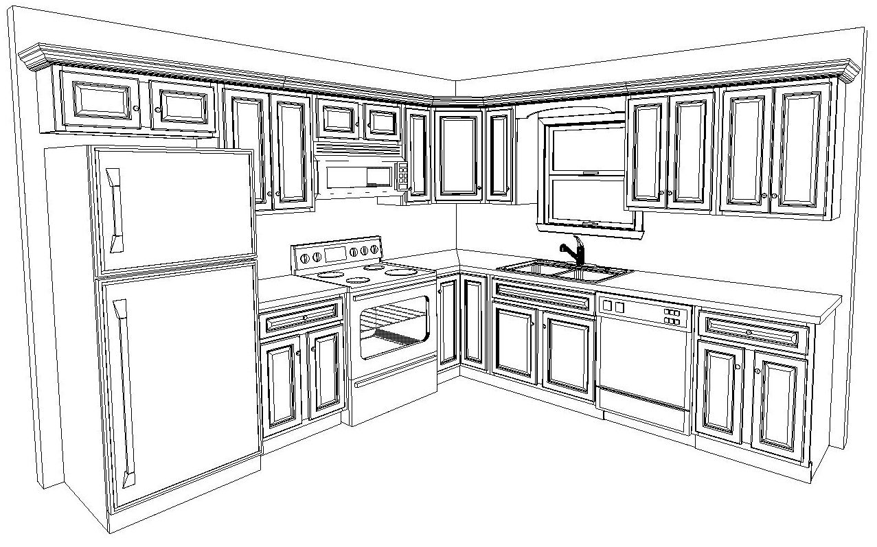 10 X 10 Kitchen Layout