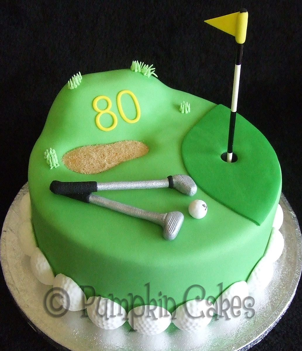 Anyone For A Round Of Golf Madeira Cake With All Edible
