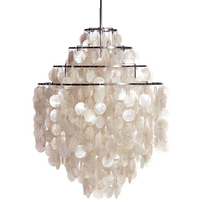 Large White Fun 0 Dm Shell Capiz Chandelier Pendant For Home Lighting Ideas