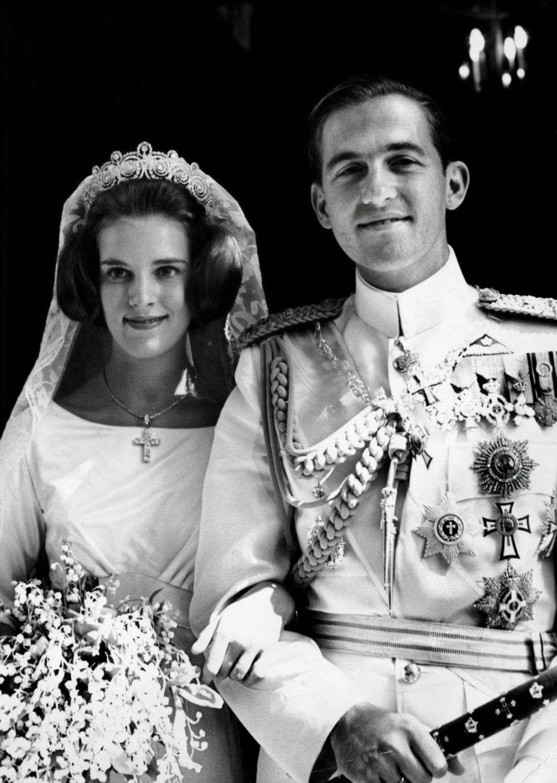GREECE 1964 Queen AnneMaire and King Constantine II
