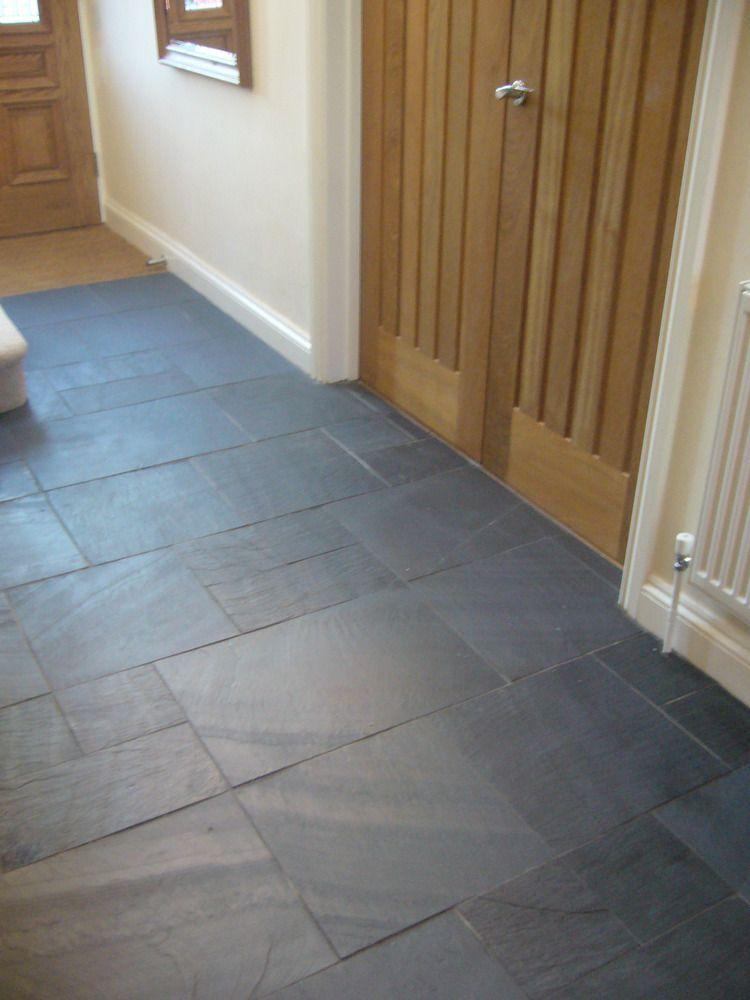 Rectangular Black Slate Floors Pinterest Hallway