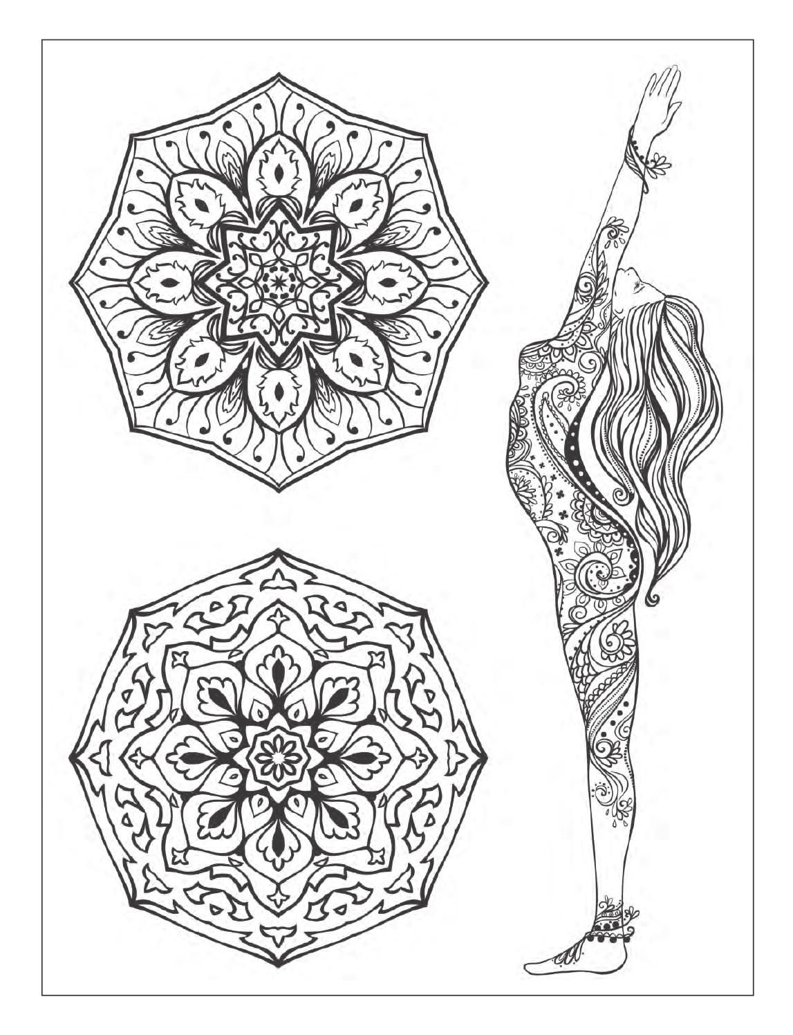 Adult Meditation Coloring Pages Sketch Coloring Page