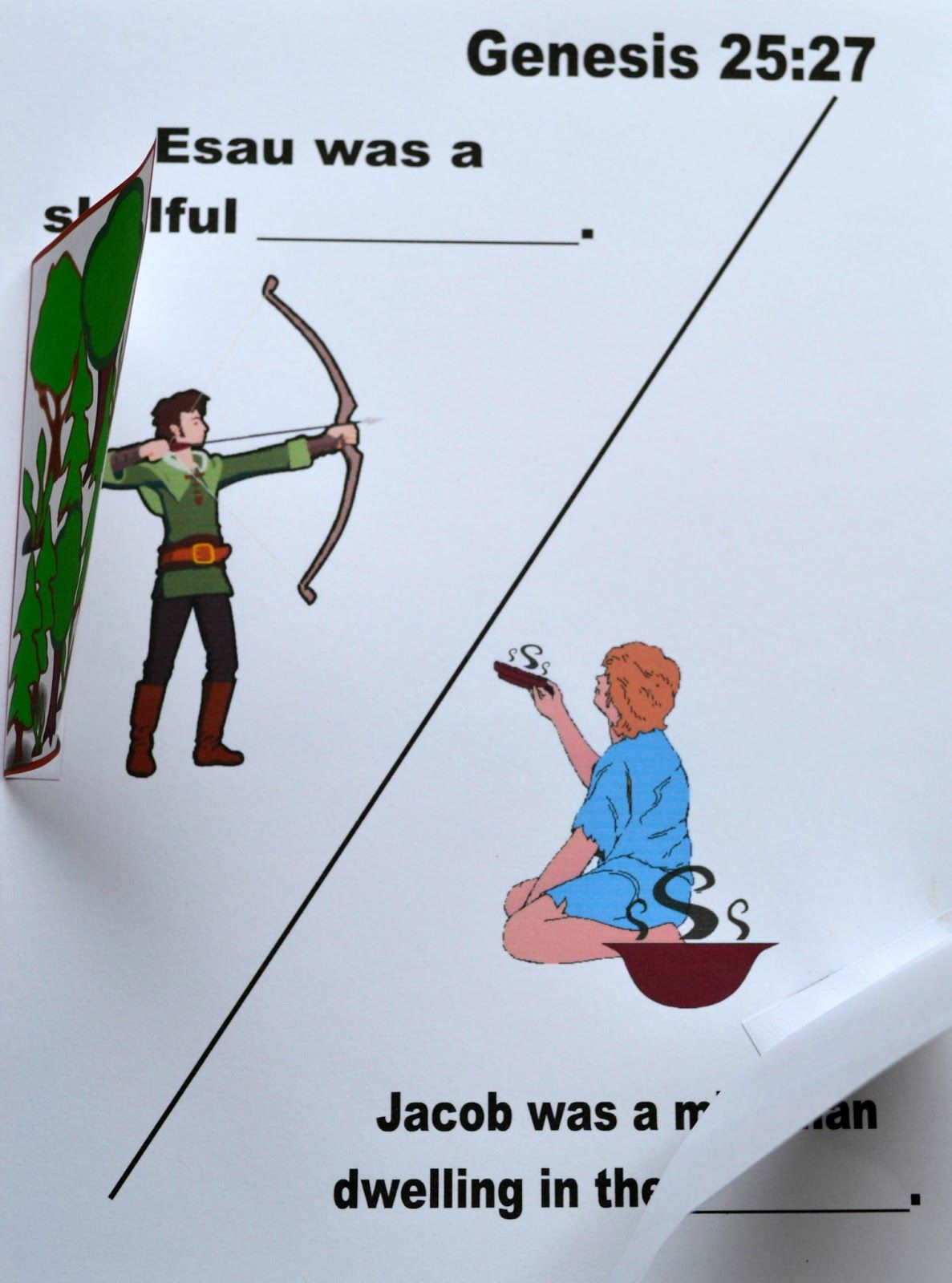 For This Jacob Amp Esau Lesson I Set Up Areas In The Classroom And We Acted Out The Lesson I