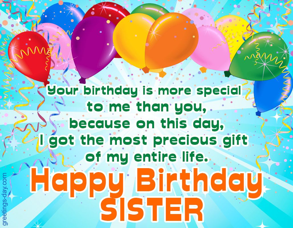 Happy Birthday Sister. Free Ecards, Pictures & GIFs