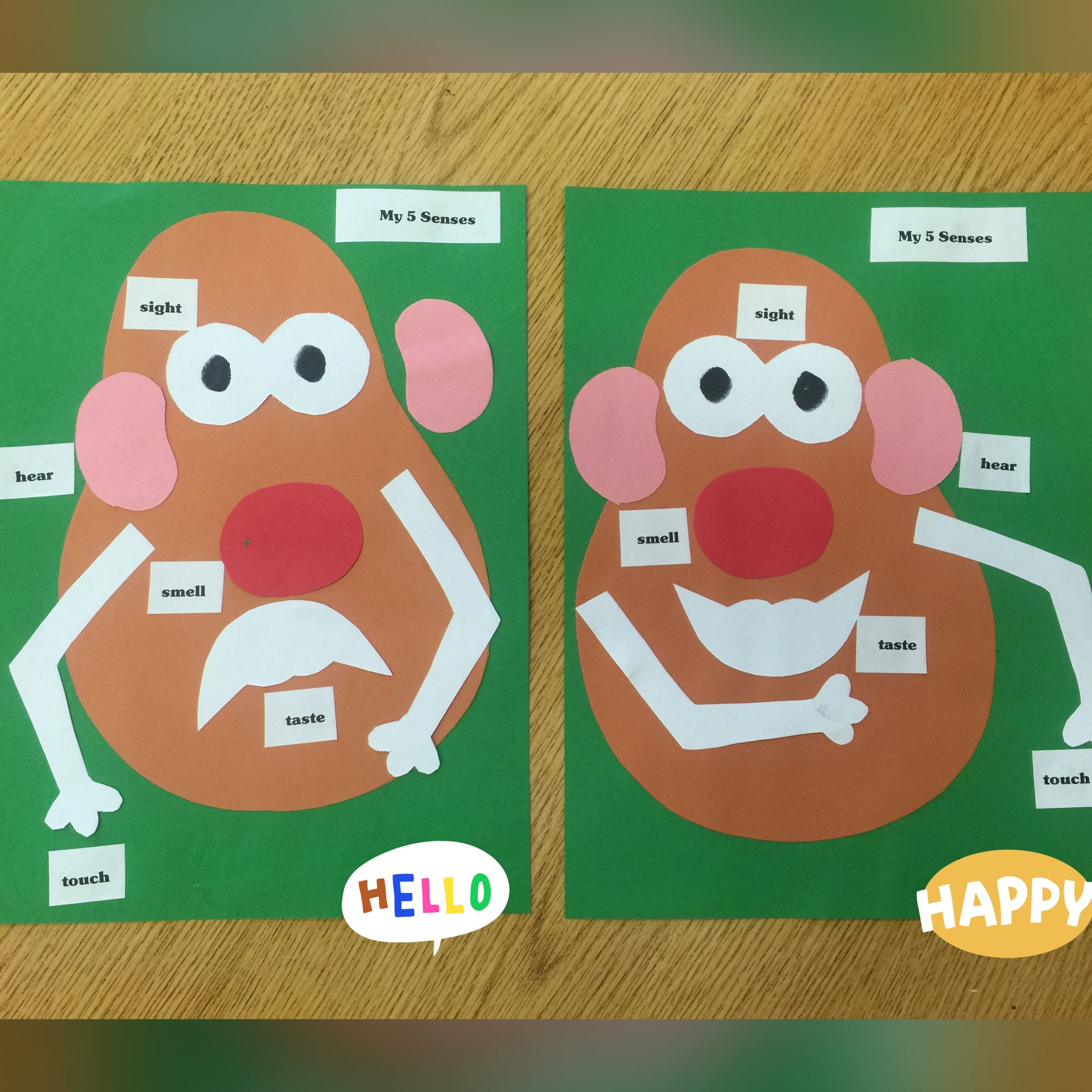 Mr Potato Head 5 Senses Activity Preschool Or Kindergarten