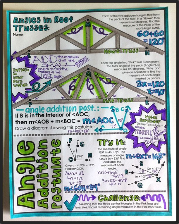 Segment & Angle Addition Postulates Doodle Notes Best