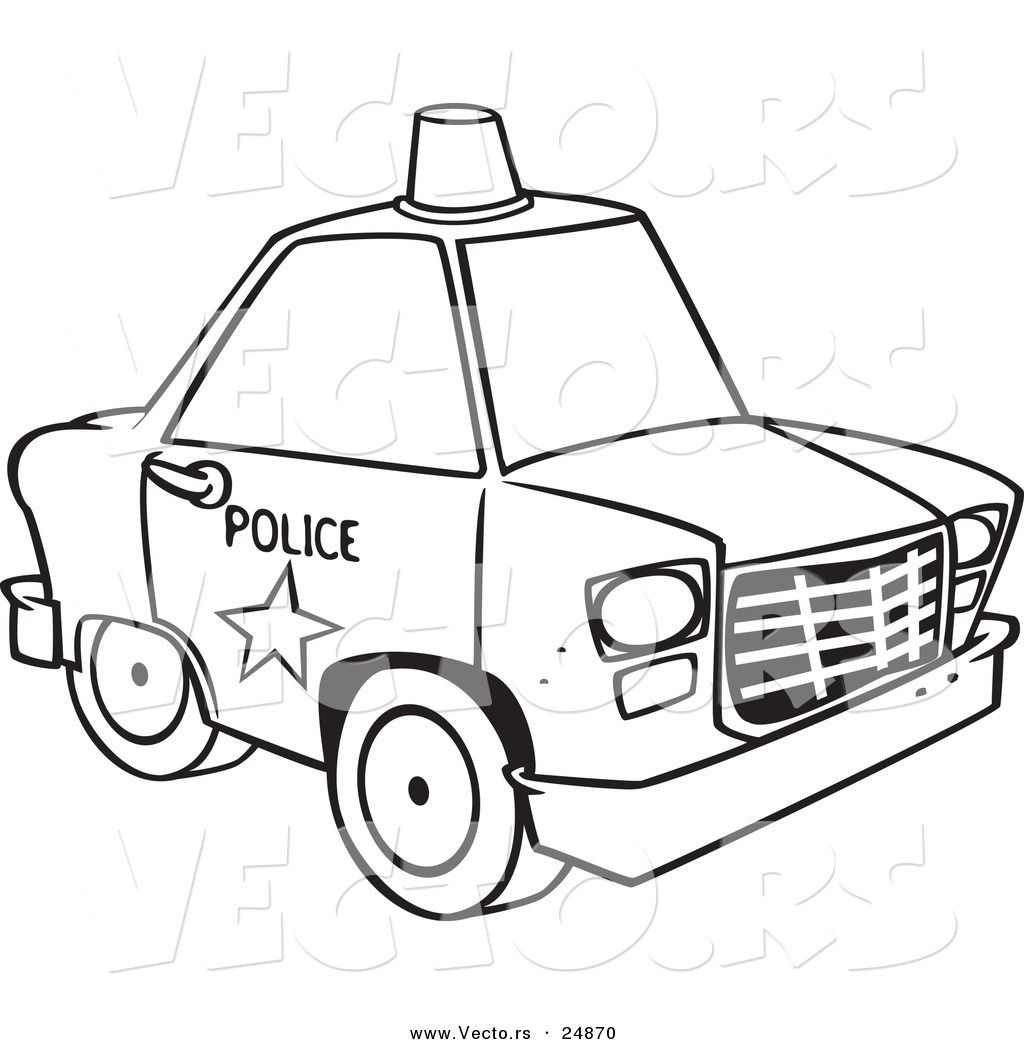 Police Car Coloring Pages Printable 03 Cakes Pinterest
